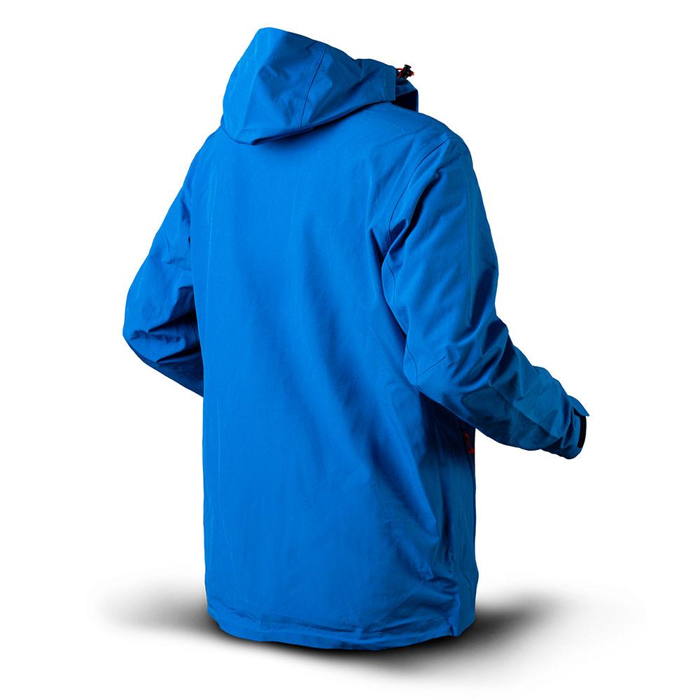 Гръб на мъжко хардшел яке Trimm Intense Jeans Blue 2020
