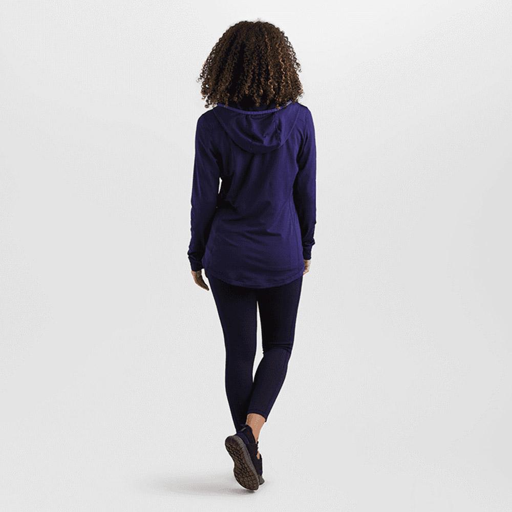 Гръб на дамско поларено яке с качулка Outdoor Research Vigor Full Zip Hoodie