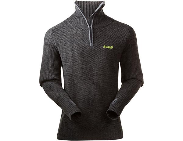 Мъжки пуловер от мерино вълна Bergans Ulriken Jumper Dark Grey