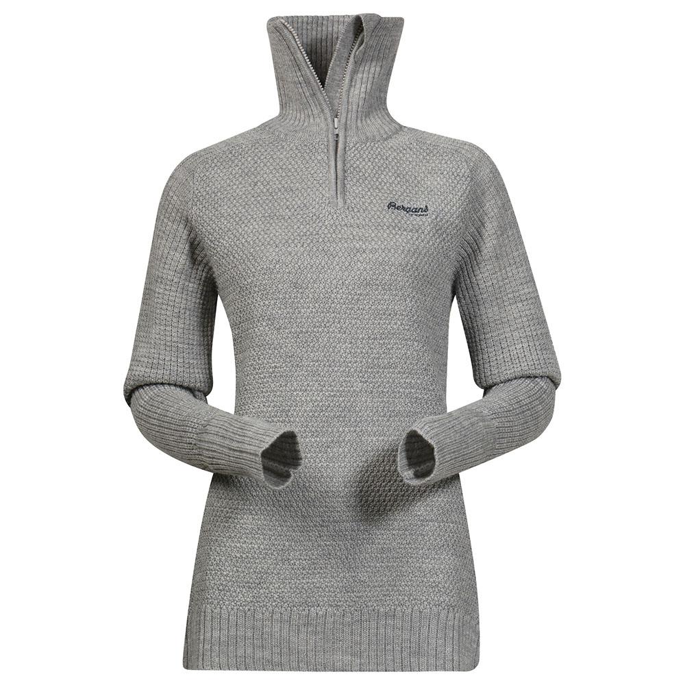 Дамски пуловер от мерино вълна Bergans Ulriken Lady Jumper Grey Melange