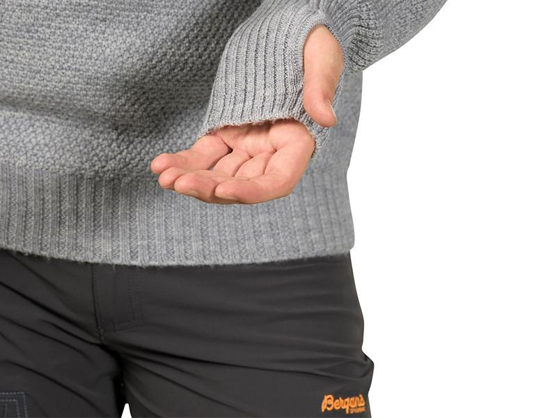 Мъжки пуловер Bergans Ulriken Jumper отвори за палци