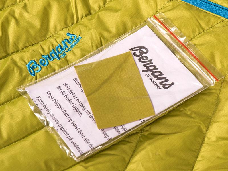 Комплект за ремонт на пухени якета Bergans