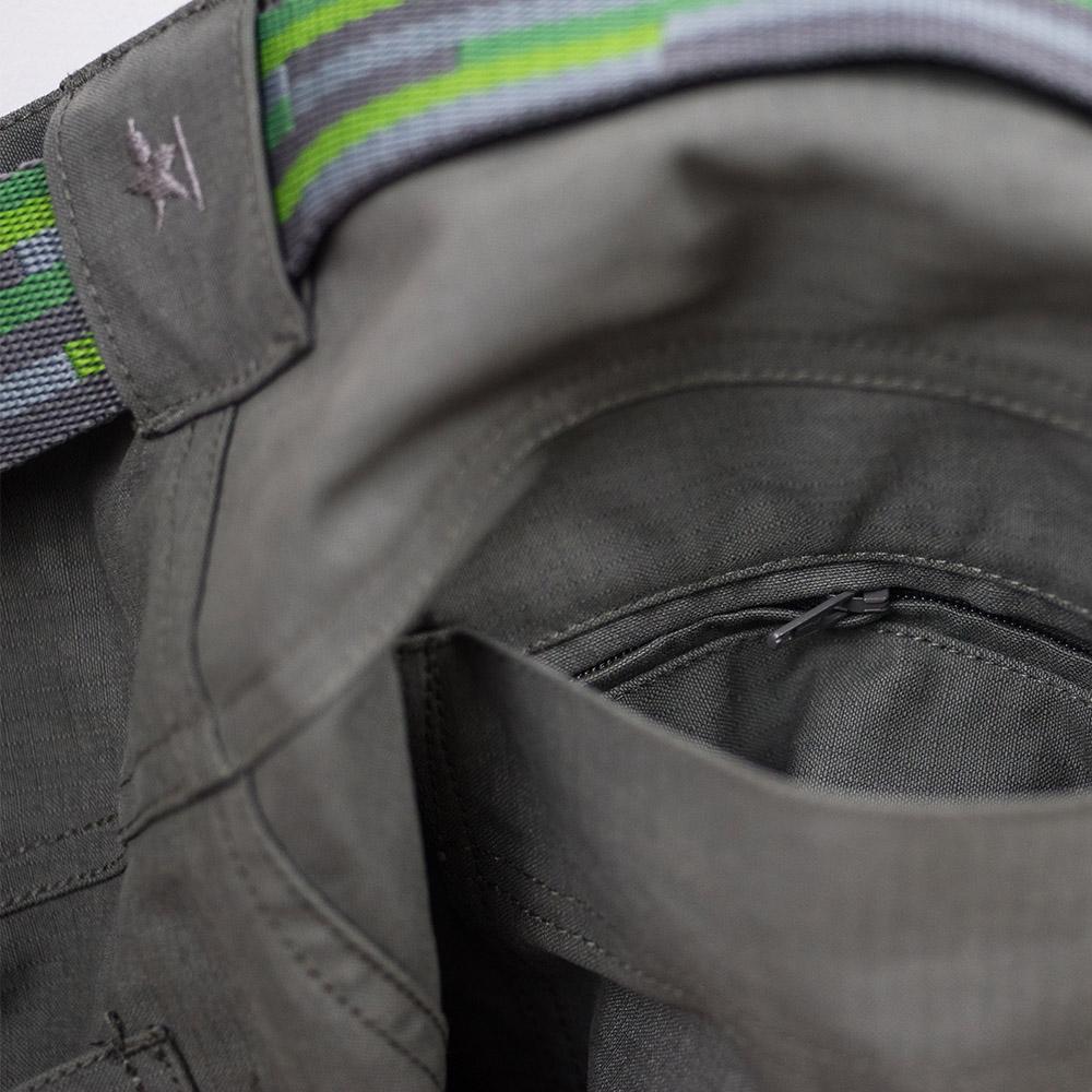 Колан на мъжки туристически панталон Warmpeace Galt Pants Grey 2021