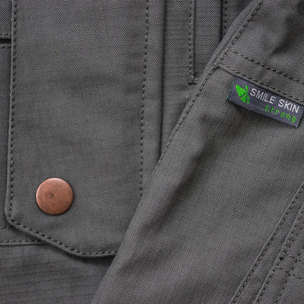 Материя на мъжки туристически панталон Warmpeace Galt Pants Grey 2021