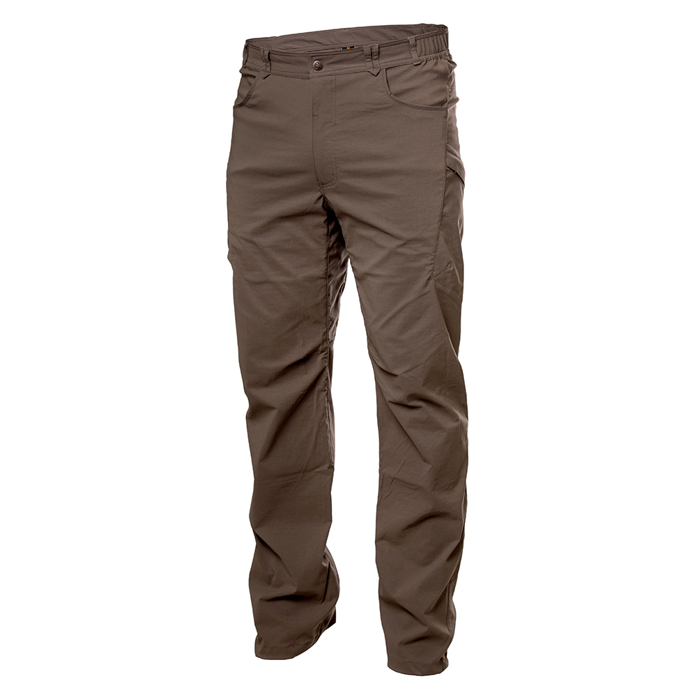 Лице на мъжки туристически панталон Warmpeace Hermit Pants Coffee Brown 2021