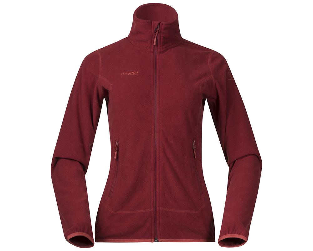 Дамско поларено яке Bergans Ylvingen Lady Jacket Bordeaux голяма снимка