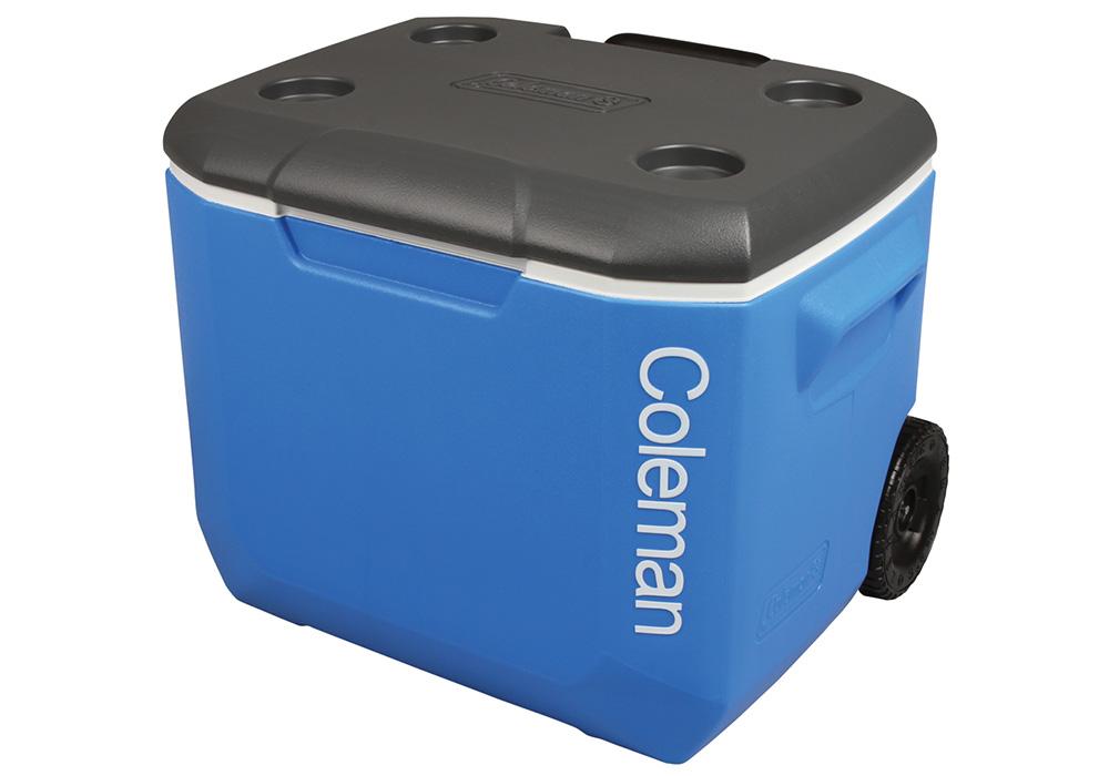 Поставки за чаши на капака на хладилна чанта с колела Coleman 60QT Performance Wheeled Cooler