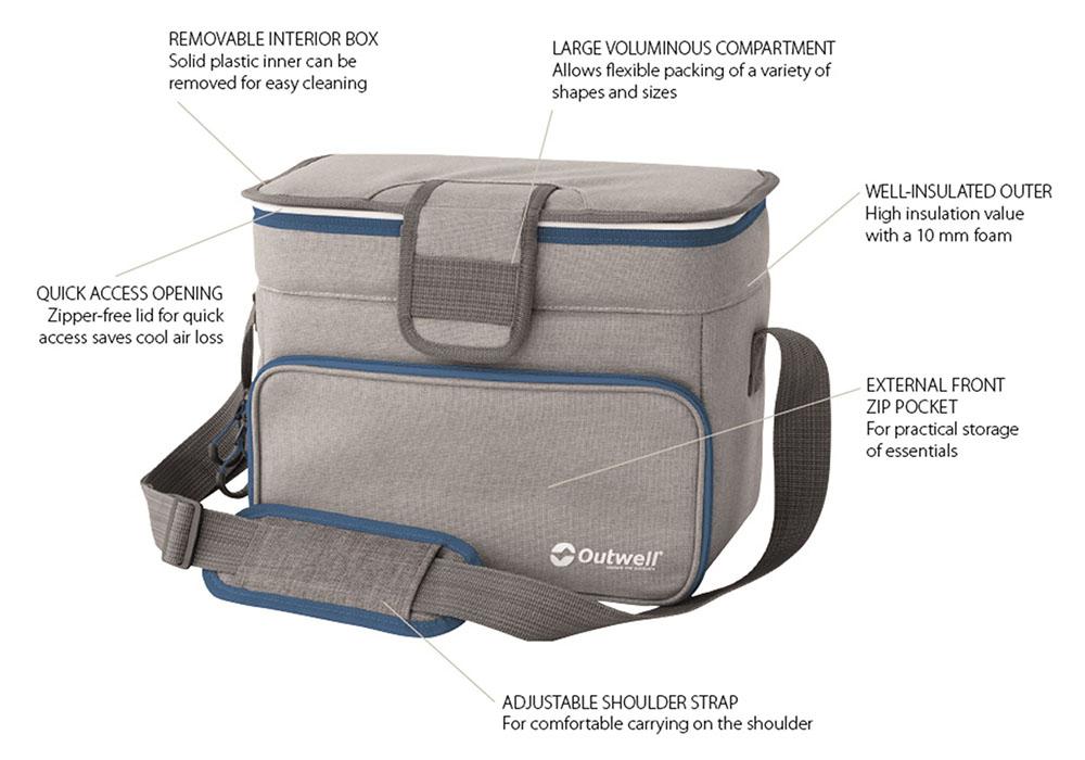 Характеристики на мека хладилна чанта Outwell Albatros M Blue