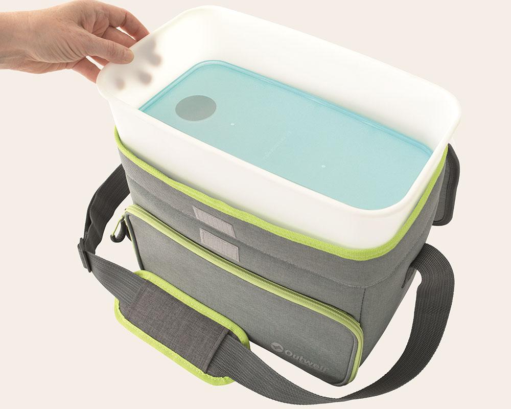 Твърда кутия на мека хладилна чанта Outwell Albatross L Green