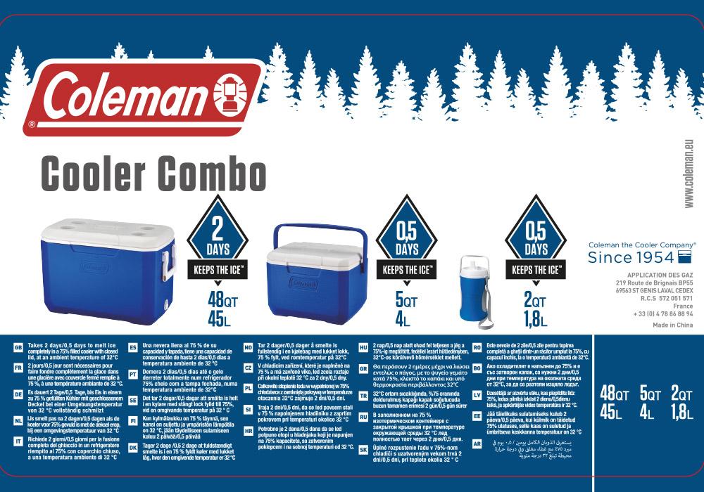 Информация за Coleman Combo - 48QT, 4.7L & 1.8L