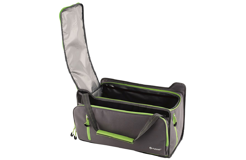 С отворен капак Мека хладилна чанта Outwell Cormorant M Green