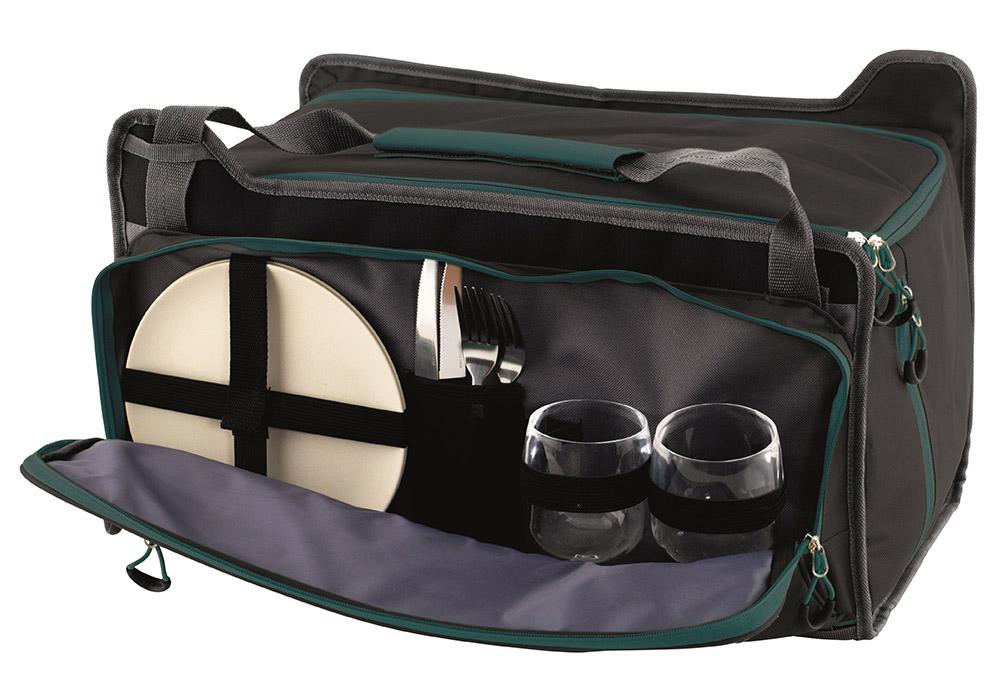 Прибори вътре мека хладилна чанта Outwell Cormorant L 34L Black 2020