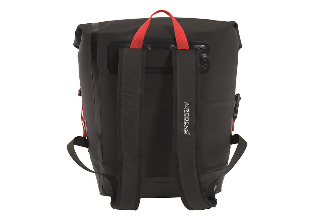 Гръб на мека водоустойчива хладилна чанта - раница Robens Coolbag 15L 2020