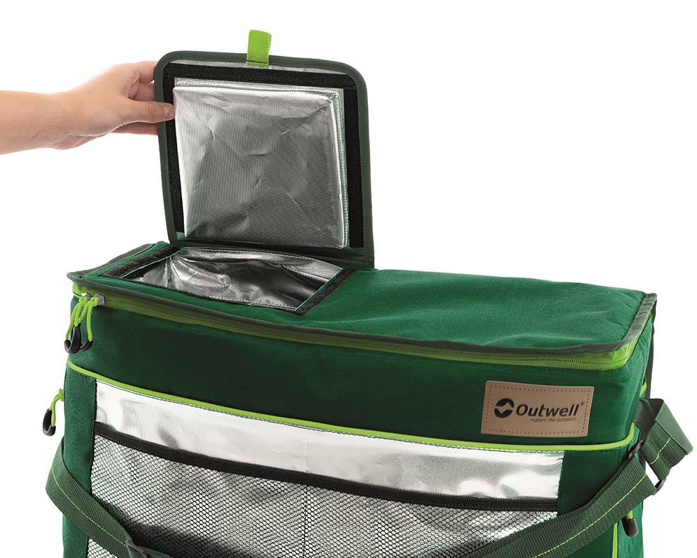 Бърз достъп до вътрешността през капака меки хладилни чанти Outwell серия Shearwater