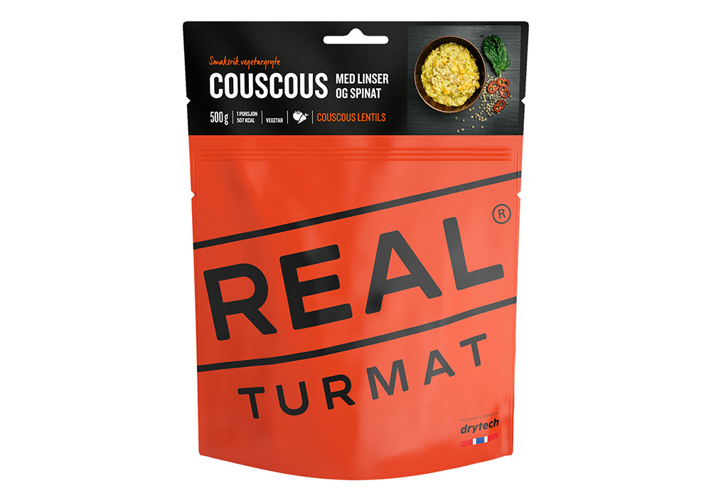 Кускус с леща и спанак  REAL Turmat Couscous with Lentils and Spinach - 500g