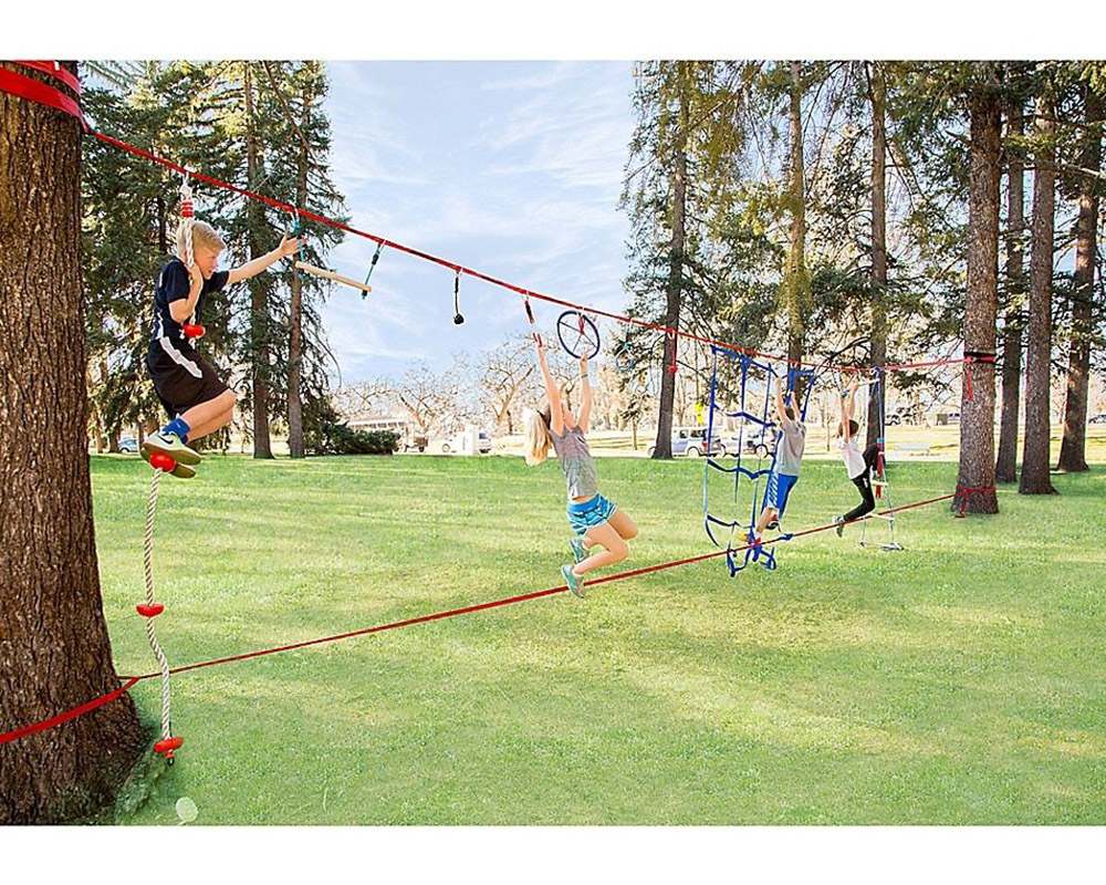 Комплект лента за ходене слаклайн и нинжалайн Slackers NinjaLine 11 метра