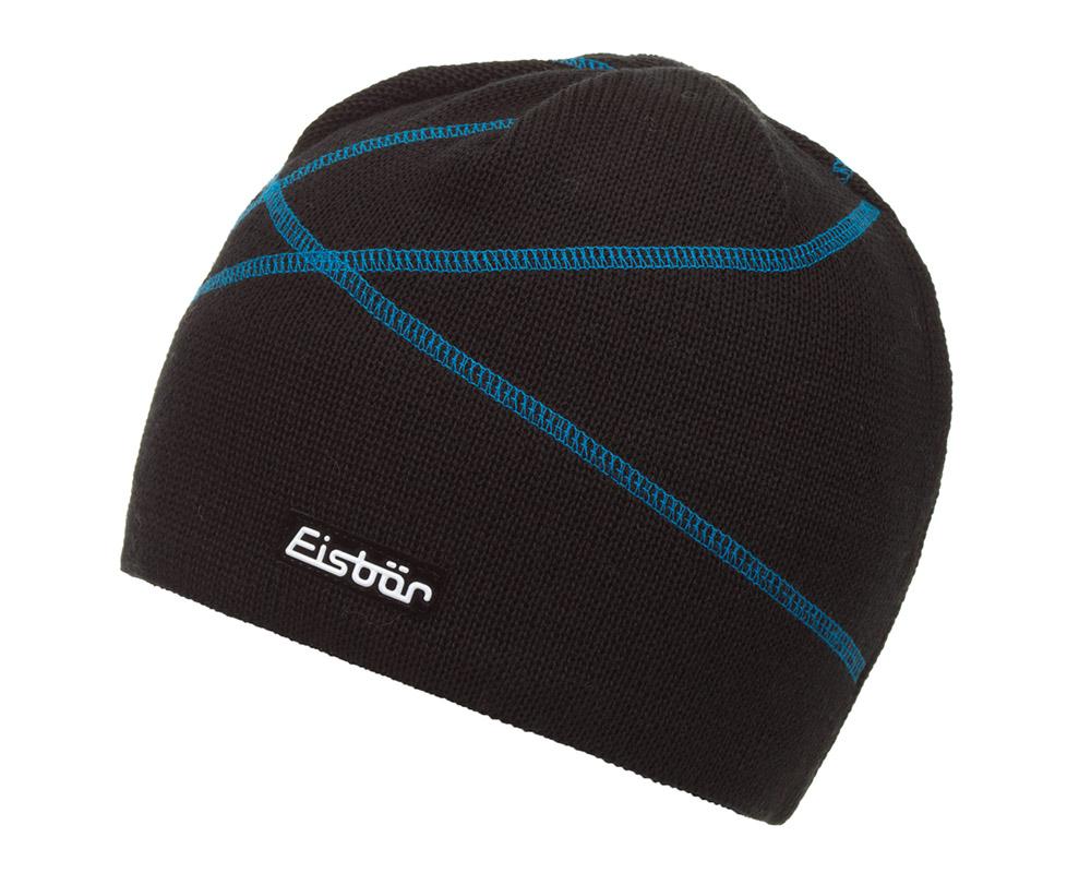 Зимна вълнена шапка Eisbär Carving MU Blue Black