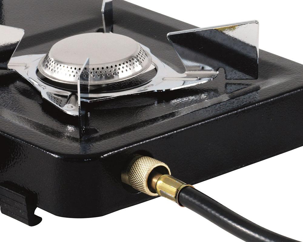 Газов котлон Outwell Appetizer 1-Burner маркуч за свързване към туристически газови контейнери
