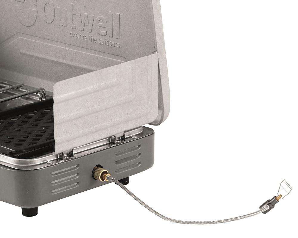 Газов котлон с грил Outwell Jimbu Stove маркуч за свързване към пропан-бутан контейнери