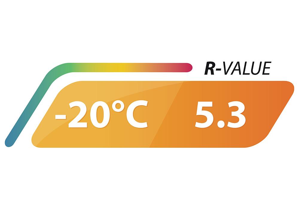 Температурни характеристики на двойна самонадуваема постелка 5.0 см Outwell Dreamcatcher 2019