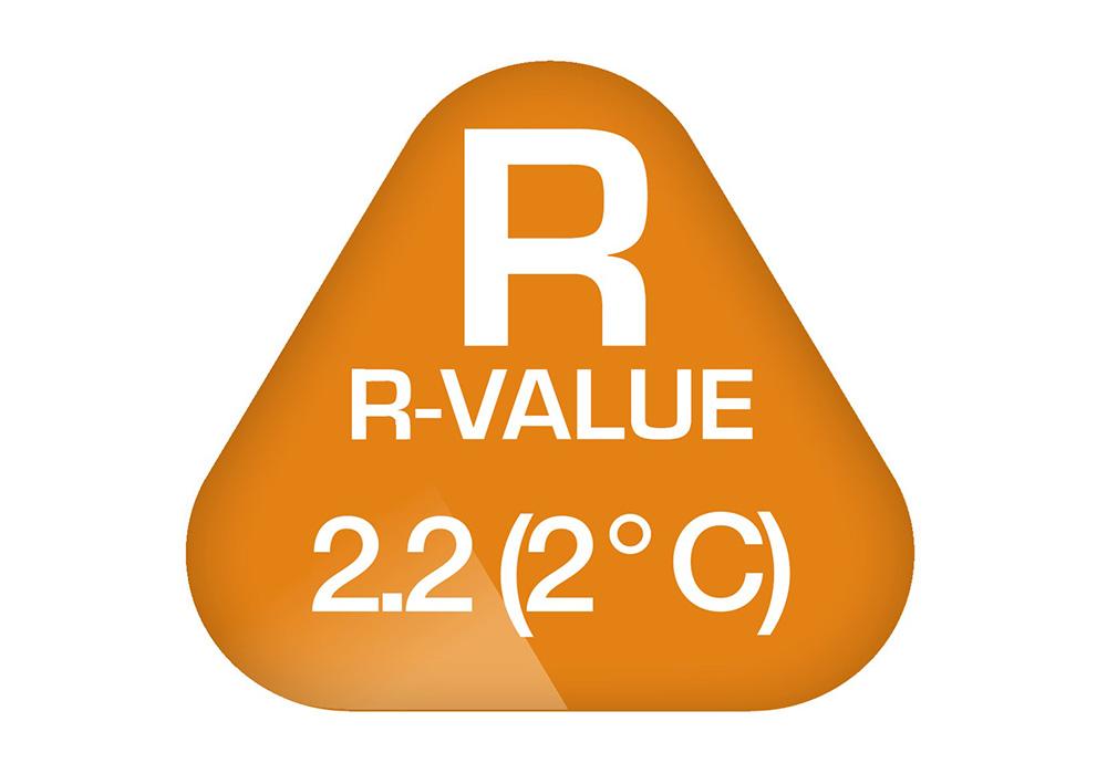 R-Value 2.2 на надуваема постелка-легло Robens PrimaVapour 60 2019