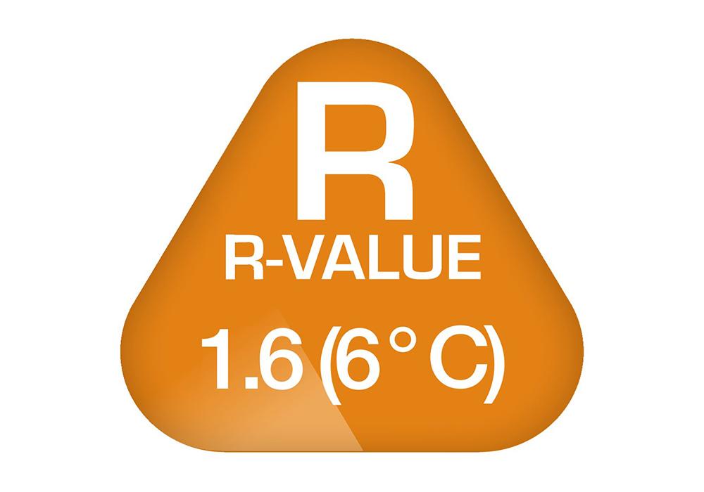 R-Value на надуваема постелка Robens 8.0 см Airbed Breath 80 2019
