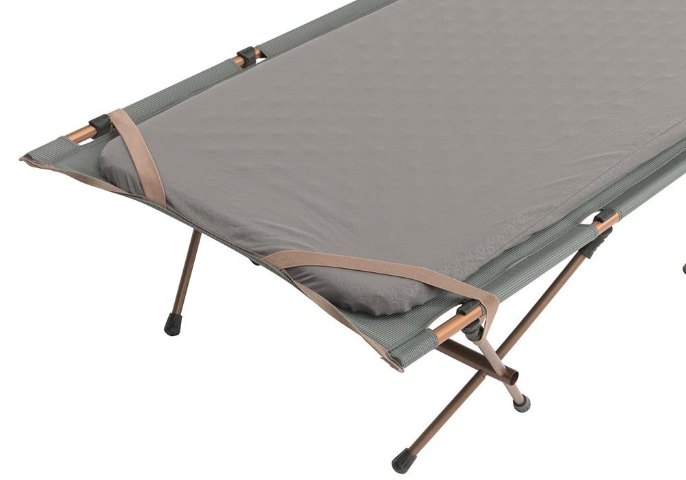 Прикачена постелка на туристическо походно легло Robens Outpost Tall Granite Grey 2020