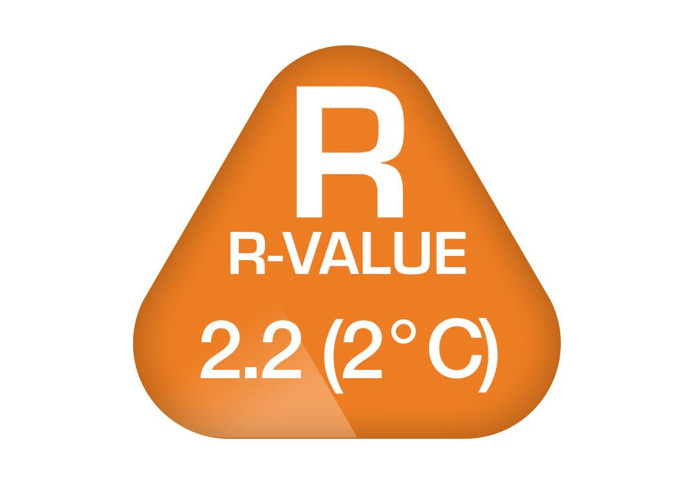 R-Value на надуваема постелка-легло Robens PrimaVapour 40 2020