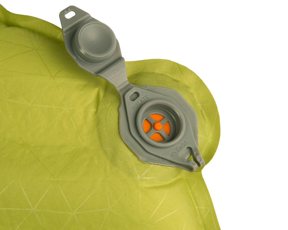 Отворен вентил за надуване с уста без връщане на въздух туристическа постелка Sea to Summit Comfort Light