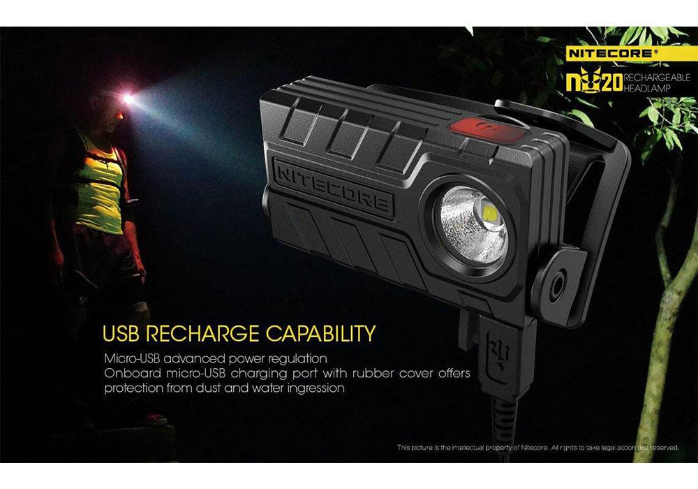 Nitecore NU20 360 LM Rechargeable Black 2021