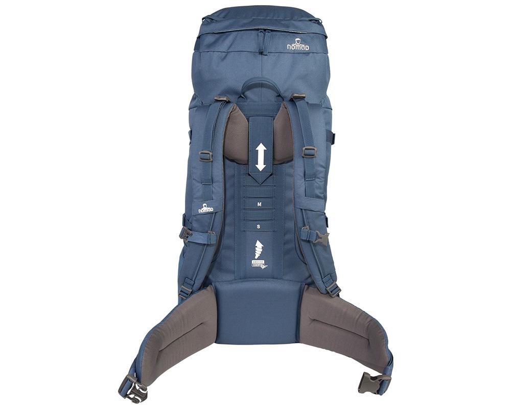 Гръб на туристическа раница Nomad Batura 55L Woman's Fit Allround Backpack Steel 2018