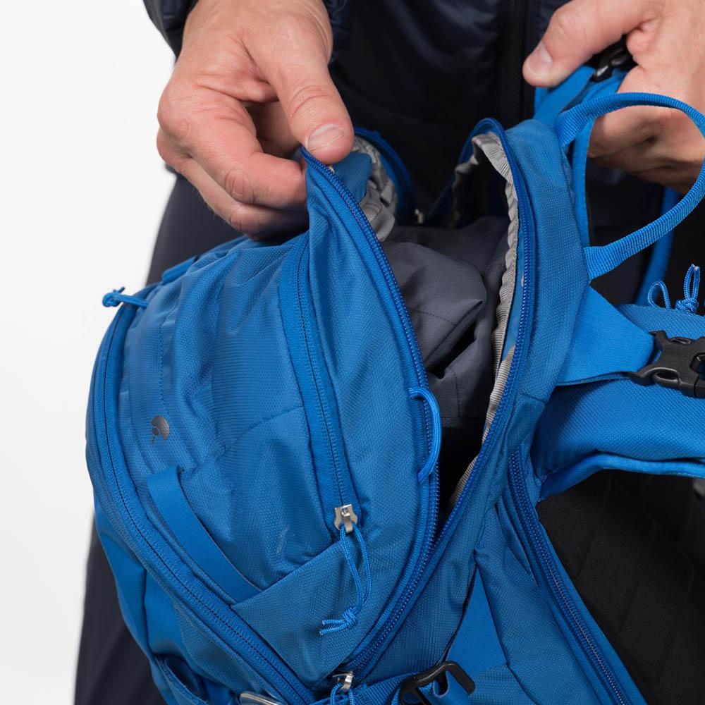 Преден джоб на ски на раница за ски Bergans Slingsby 34L Athens Blue