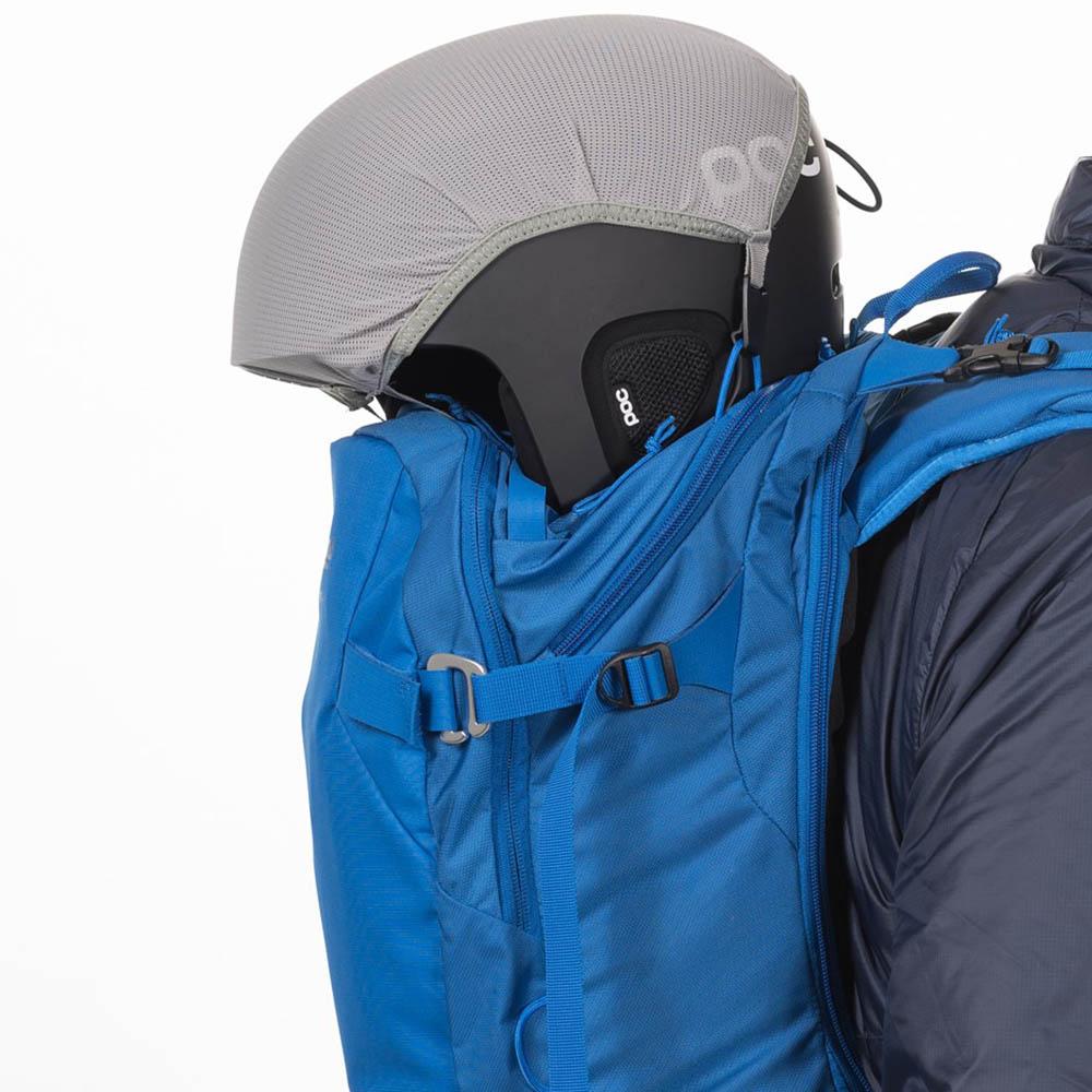 С осигуряване на каска ски на раница за ски Bergans Slingsby 34L Athens Blue