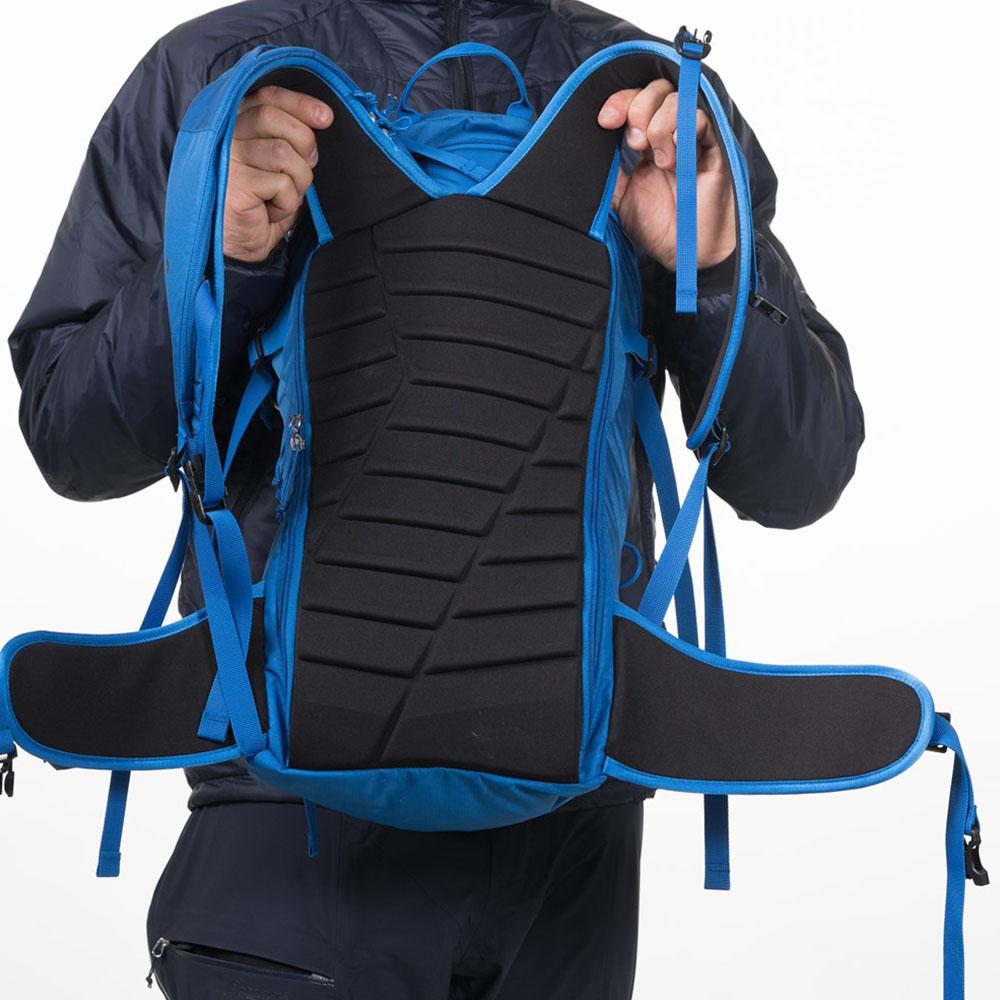 Твърд гръб на ски на раница за ски Bergans Slingsby 34L Athens Blue
