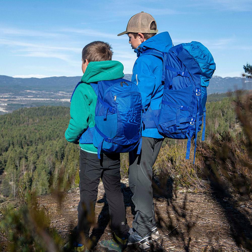 Хайкинг с детска туристическа раница Bergans Birkebeiner Jr 22 Dark Royal Blue 2020