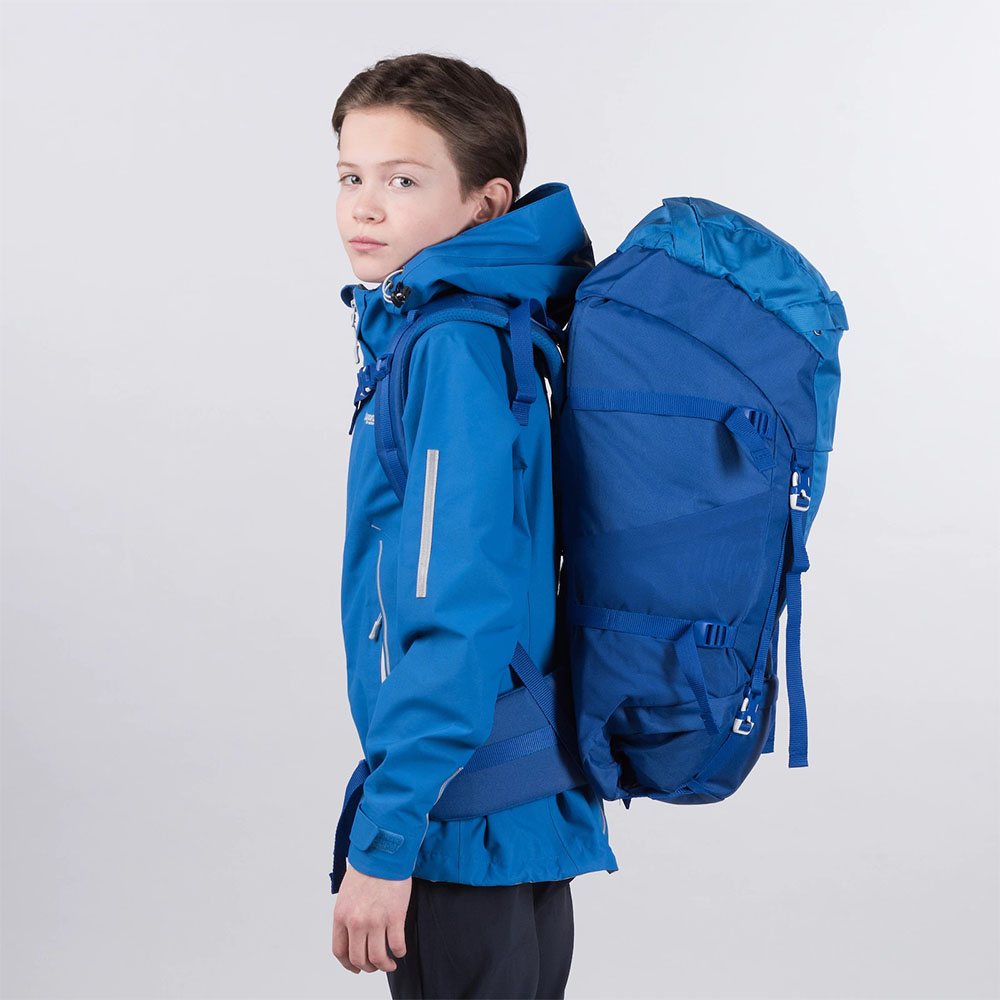 Профил на туристическа раница Bergans Birkebeiner Jr 40 Dark Royal Blue 2020