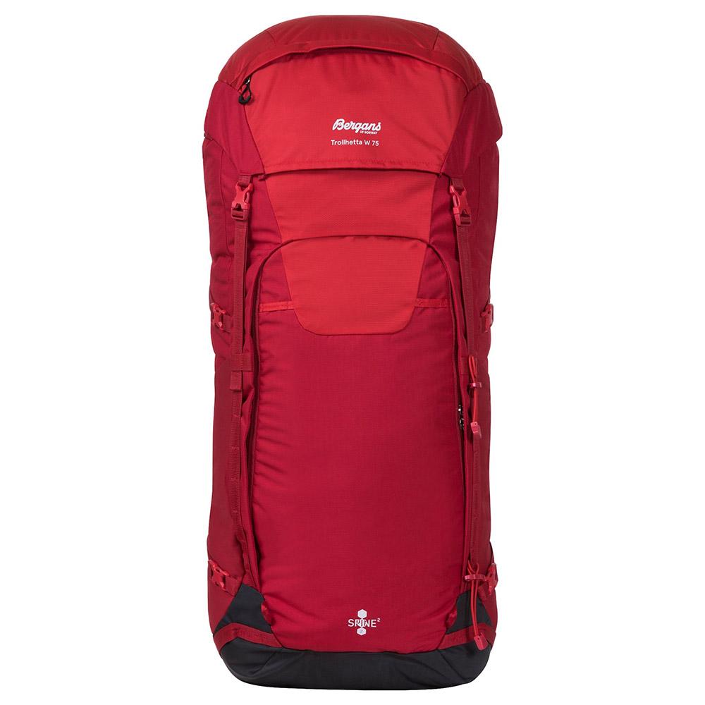Лице на туристическа раница Bergans Trollhetta V5 W 75 Fire Red 2020