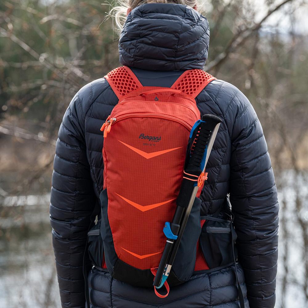 With trekking poles Bergans Driv W 12 Brick / Cantaloupe 2021