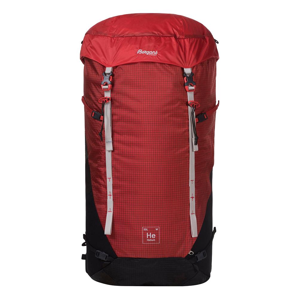 Front Bergans Helium V5 W 55 Red Sand / Black 2021