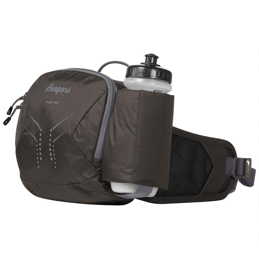 Спортна чанта за кръст с бутилка Bergans Vengetind Hip Pack 3L w/Bottle Green Mud 2021
