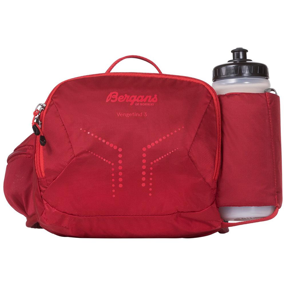 Спортна чанта за кръст с бутилка Bergans Vengetind Hip Pack 3L w/Bottle Red