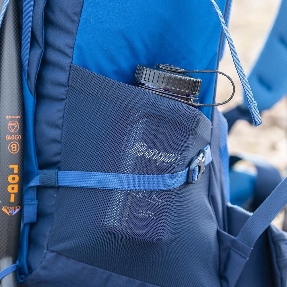 Еластични джобове на туристическа раница Bergans Rondane V6 40 Dark Riviera Blue 2021