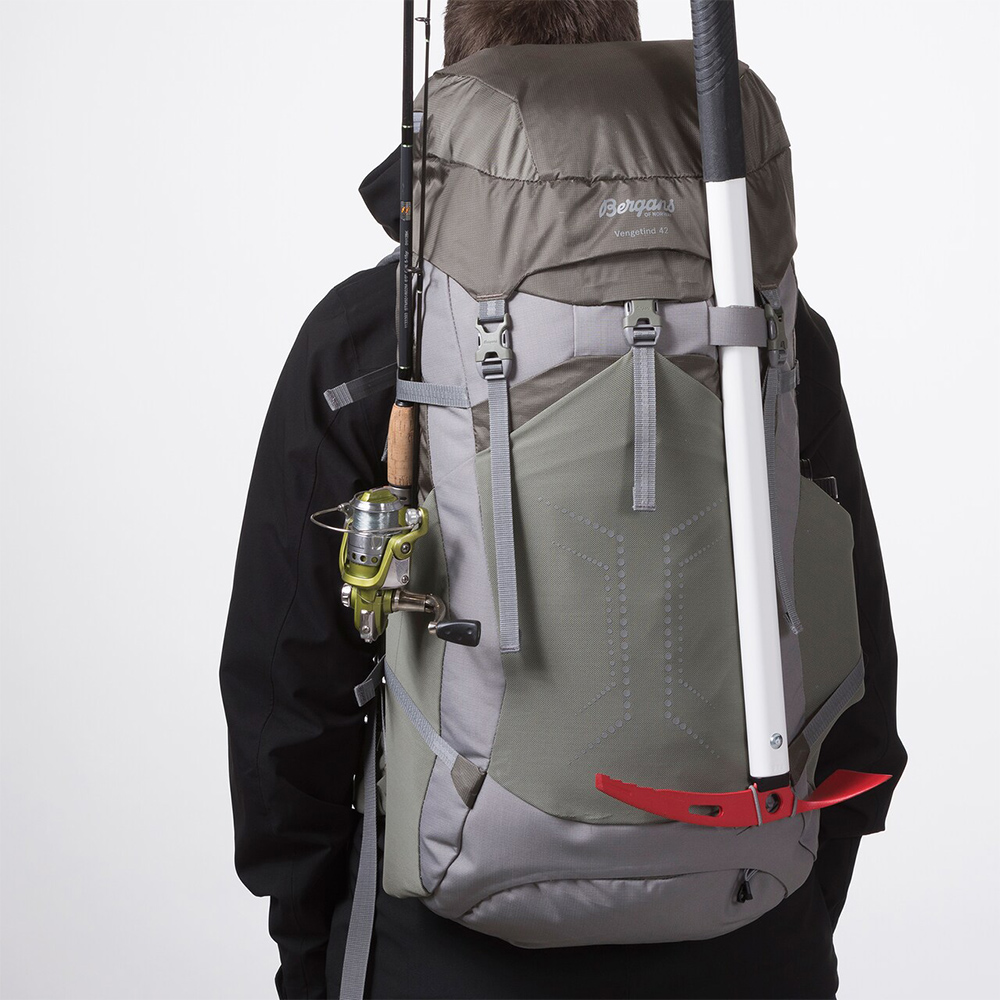 With fishing pole and axe Bergans Vengetind 42