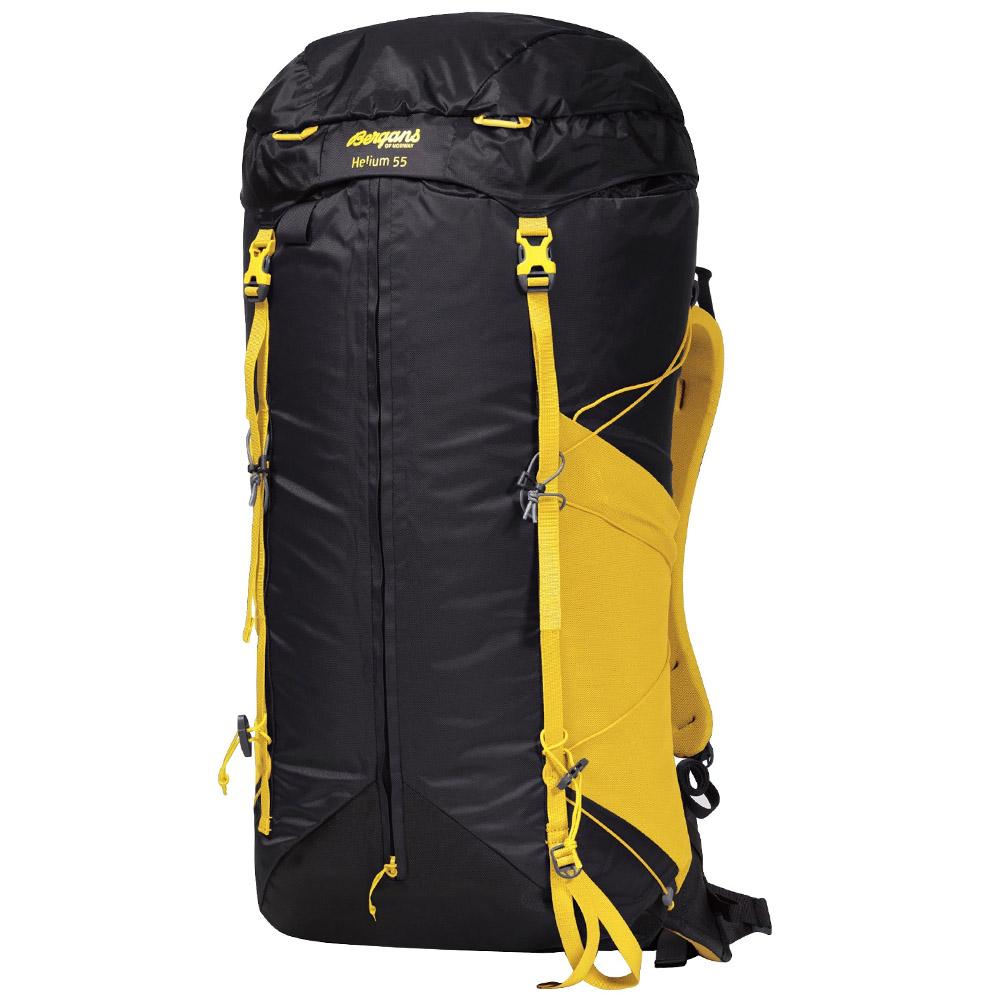 Туристическа раница Bergans Helium 55L Solid Charcoal / Waxed Yellow 2020