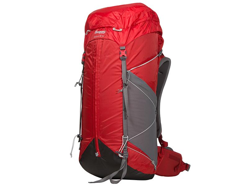 Туристическа раница Bergans Helium W 55L Red Solid Grey