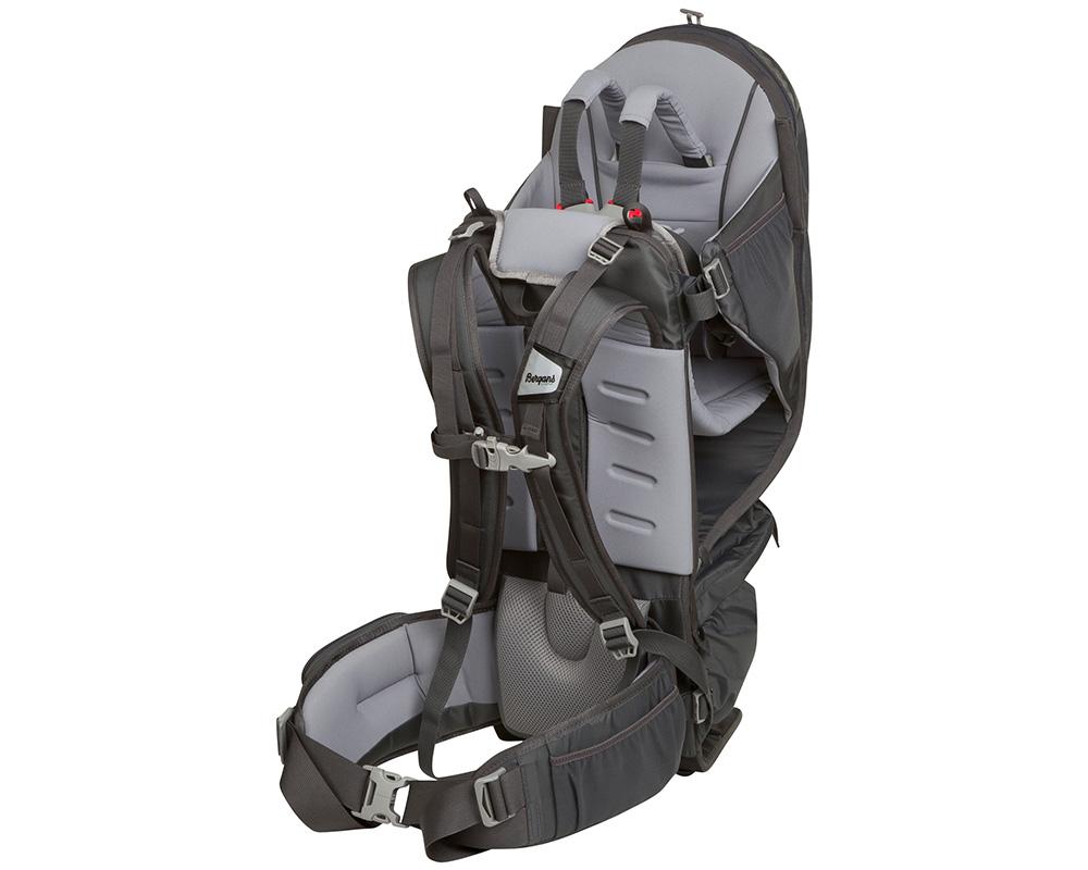 Сива туристическа раница за носене на дете Bergans Lilletind Child Carrier без визьор