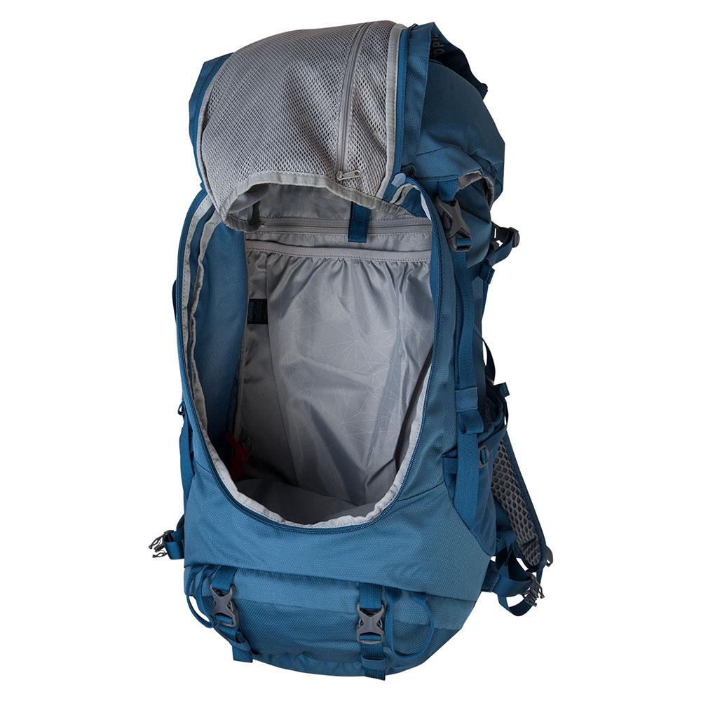 Отваряне отпред на туристическа раница Nomad Topaz Backpack 40L Titanium