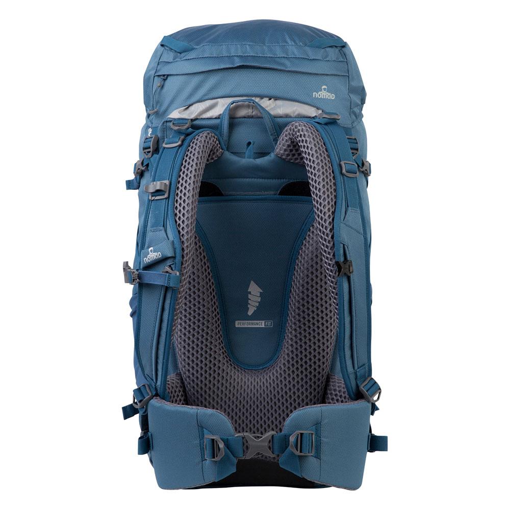 Гръб на туристическа раница Nomad Topaz Backpack 40L Titanium