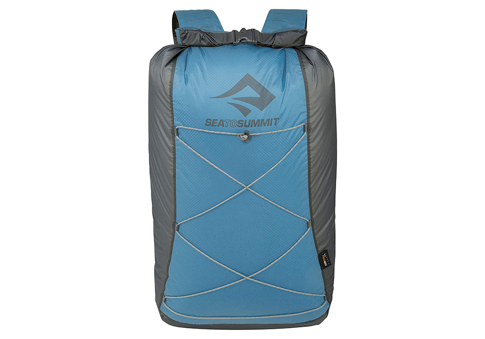 Лице на синя джобна раница Sea to Summit Ultra-Sil Dry Daypack