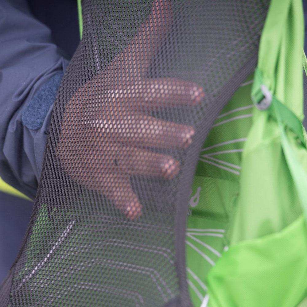 Мрежест дишащ гръб на туристическа раница Bergans Skarstind 32L